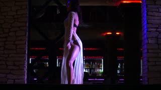 Girl Dancing seductive shake Hips - Go-Go Dancer - Pj In A Disco In Nightclub