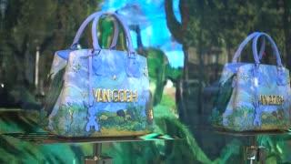 Louis Vuitton boutique showcase - new models of Bags Van Gogh