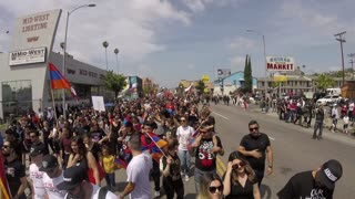 March in memory of the genocide of the Armenian, Los Angeles California 2015