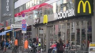 McDonalds Restaurant in Berlin Friedrichstrasse Street near Checkpoint Charlie