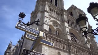 Notre-Dame de Paris cathedral in Summer Day 2017