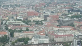 Overhead View Of The City Wroclaw - Panorama of Streets and Buildings