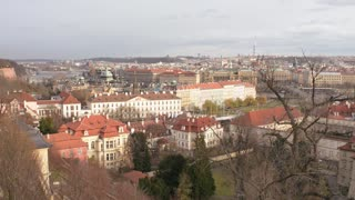 Panorama of an Old Historical Prague - Winter Day