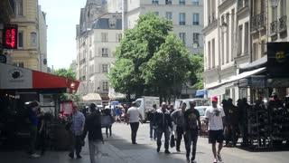 People Walking Street Paris
