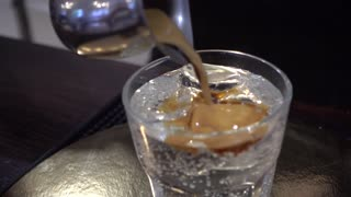 Preparing Cold Coffee with pure Water and Ice