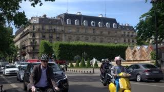 Traffic in City Paris - Summer day 2017