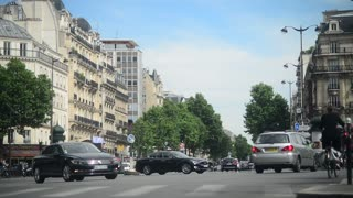Traffic on the Street in Paris 2017