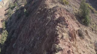 Walking hiking with GoPro Camera on a Mountain Ararat rocky Path in Armenia