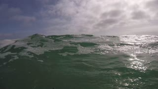 Waves of the Ocean on the California Beach in Los Angeles - GoPro Camera Video