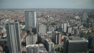 View of Milan from the top floor of a skyscraper Palazzo Lombardia