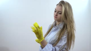 Sexy rubber gloves