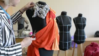 Young Tailor Working In Fashion Design Studio