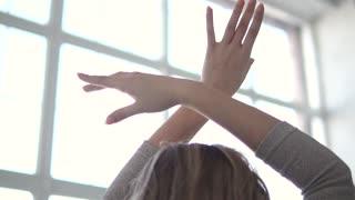 hands of ballet dancer closeup