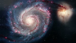 Rotating spiral galaxy. deep space exploration. star fields and nebulas in space