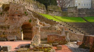 Ruins of old Roman Colosseum