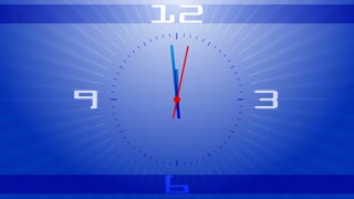 Blue countdown clock