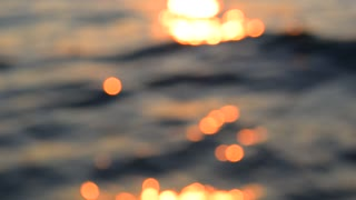 Water bokeh glare, blurred video background