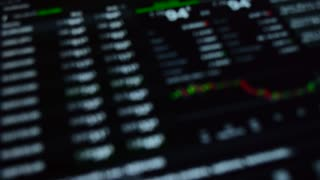 Blurred stock market background