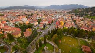 Brescia, Italy. Panoramic view on the city Brescia, Lombardia, Italy