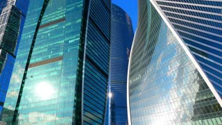 Business buildings, financial background