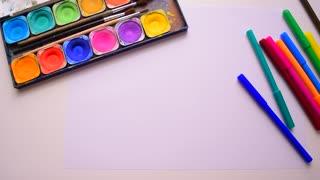 Children's creativity, seamless background