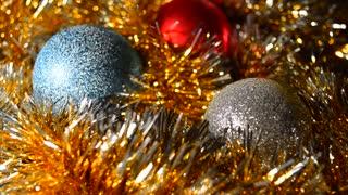 Christmas background, balls, decoration