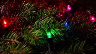 Christmas background, Christmas garland