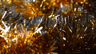 Christmas background, tinsel, frippery