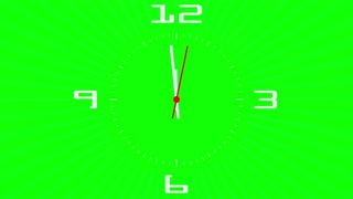 Clock chromakey green screen