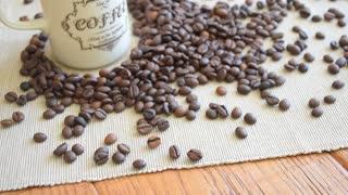 Coffee mug, beans