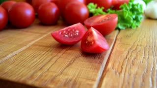 Cooking, vegetable seamless loop background