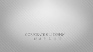 Corporate slideshow intro