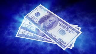 Dollar bills. Money background.