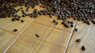 Falling coffee beans background