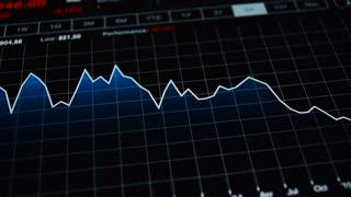 Recession. Chart economic crisis