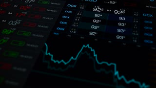 Stock exchange video background