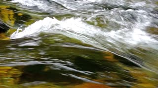 Flowing water video background