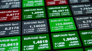 Forex board, currency rate