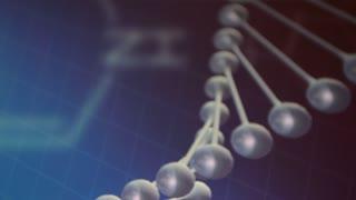 Genetics. DNA helix model.