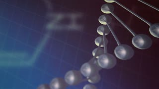 Genetics medical science video background