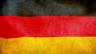 Germany waving flag, grunge