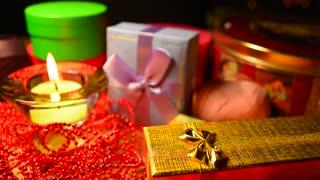 Gift box. Christmas celebration