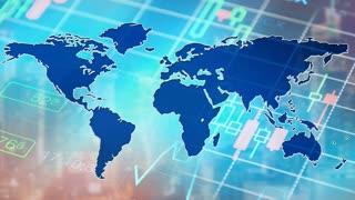 Global economy, finance background.