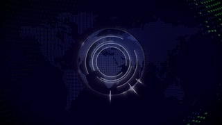 Global technology video background