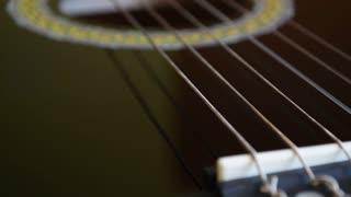 Guitar close up, guitar strings