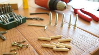 Handwork tools, wood workshop