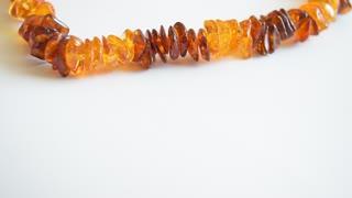 Heart amber beads