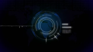 Information technology animated video background