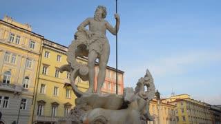 Trieste, Italy. Roman sculpture of Poseidon
