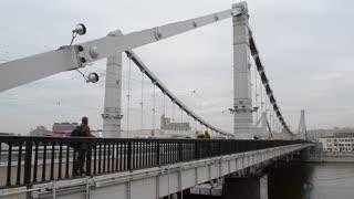 Krimsky Bridge Moscow Russia